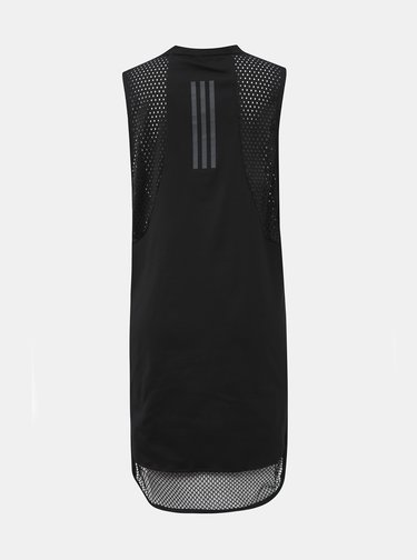 Čierne šaty adidas Performance