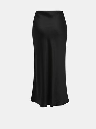 Černá lesklá midi sukně Dorothy Perkins