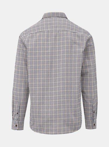 Hnědo-bílá kostkovaná regular fit košile ONLY & SONS Orik