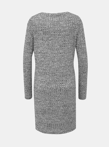 Šedé žíhané svetrové šaty VERO MODA Poppy