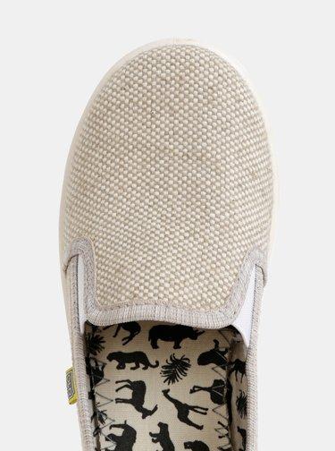 Pantofi slip-on bej melanj unisex Oldcom Cooper