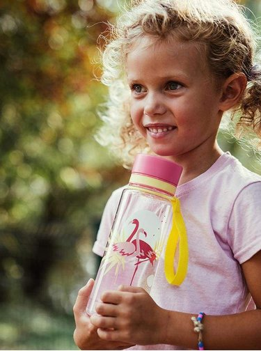 Rúžová plastová fľaša s potlačou EQUA Flamengo
