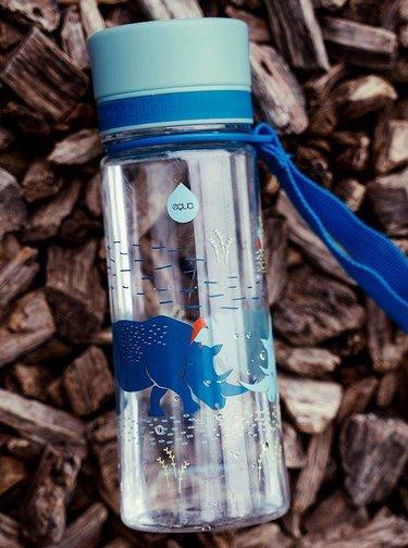 Sticla din plastic cu model de rinocer EQUA 400 ml