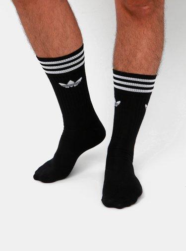 Sada troch párov pánských čiernych ponožiek adidas Originals Crew