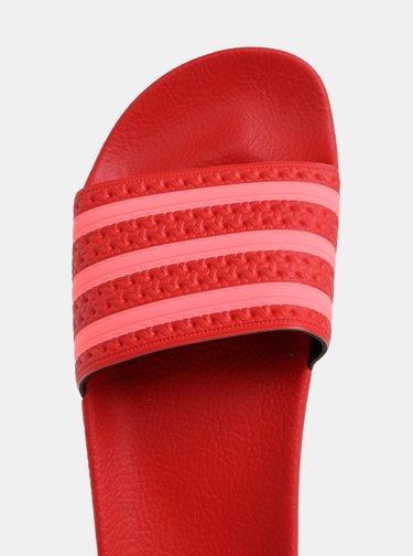 Červené dámské pantofle adidas Originals Adilette