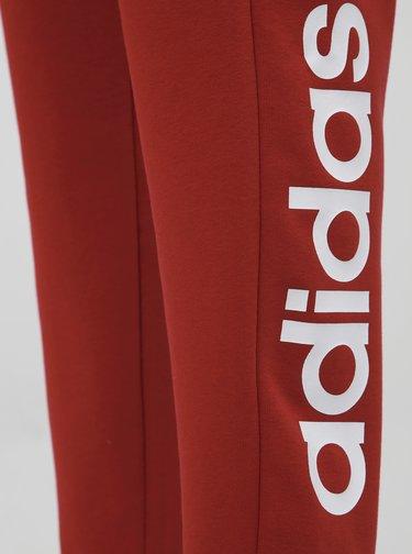 Červené dámske slim fit tepláky adidas CORE