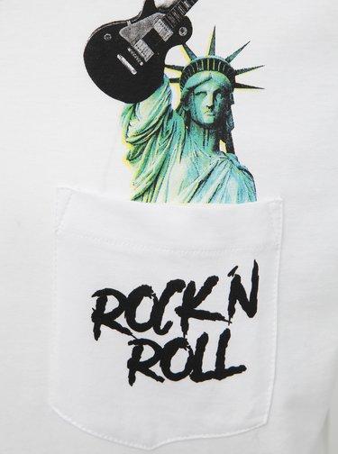 Biele tričko s potlačou Shine Original Rock