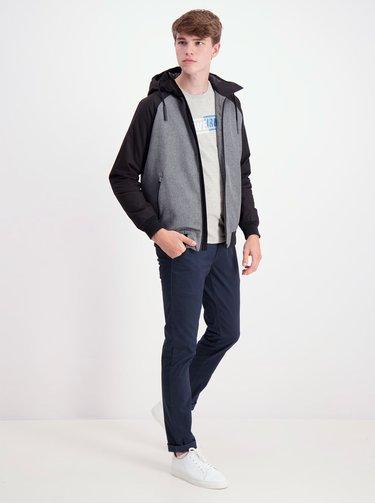 Čierno-šedá zimná bunda Shine Original