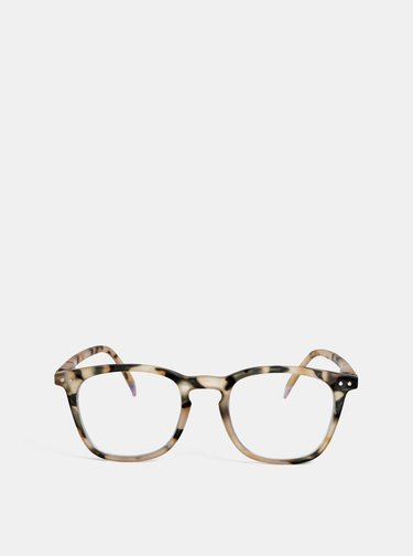 Béžové vzorované ochranné brýle k PC IZIPIZI #E