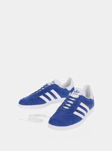 Modré pánske semišové tenisky adidas Originals Gazelle