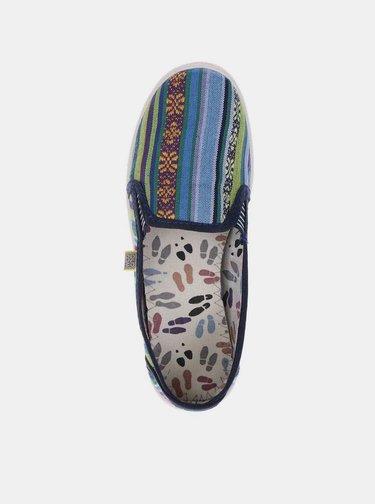 Pantofi slip-on multicolori pentru femei - Oldcom Etno