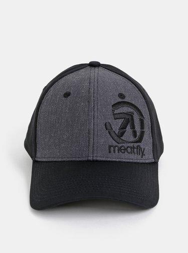 Šedo-čierna šiltovka s prímesov vlny Meatfly Sigma