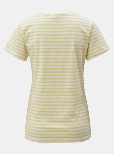 Tricou alb-galben in dungi Blendshe Jemima