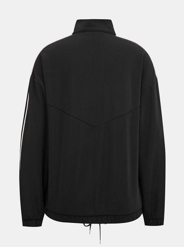 Bluza sport neagra cu dungi albi Moss Copenhagen Seely