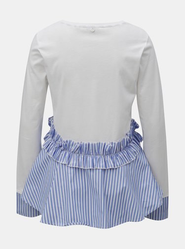 Modro–biely top s pruhovaným volánom Rich & Royal