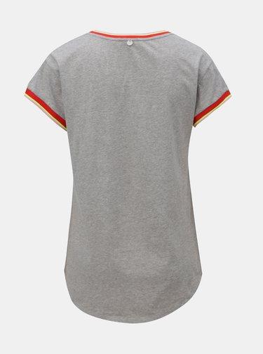 Svetlosivé melírované tričko s potlačou Rich & Royal
