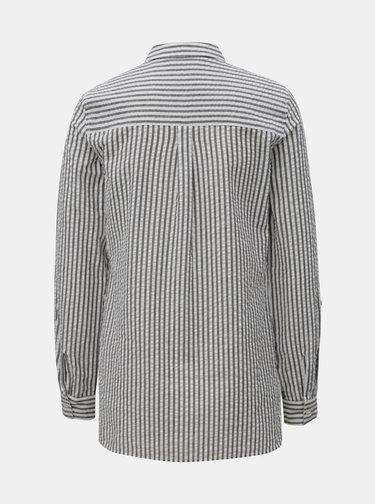 Bielo–sivá pruhovaná košeľa Dorothy Perkins