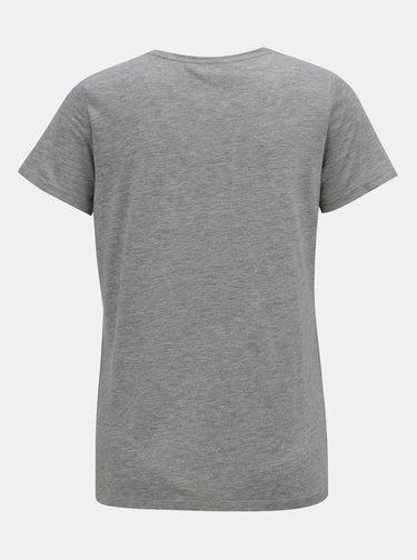 Sivé melírované tričko s flitrami a výšivkou Dorothy Perkins