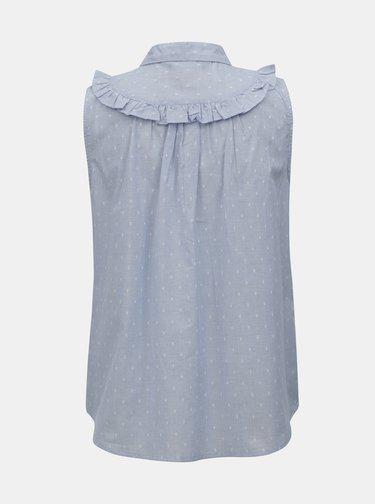 Bluza albastru deschis fara maneci cu model Dorothy Perkins