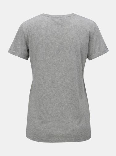 Sivé melírované tričko s potlačou Dorothy Perkins