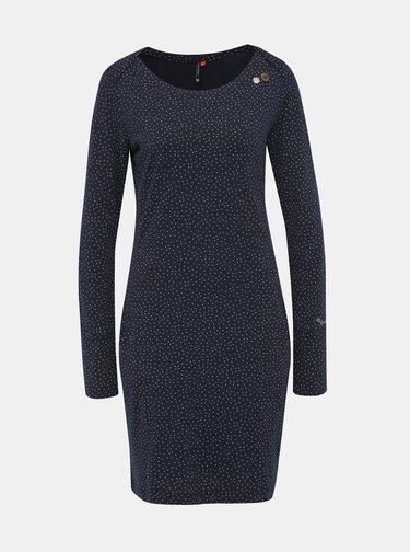 Tmavomodré vzorované šaty Ragwear River