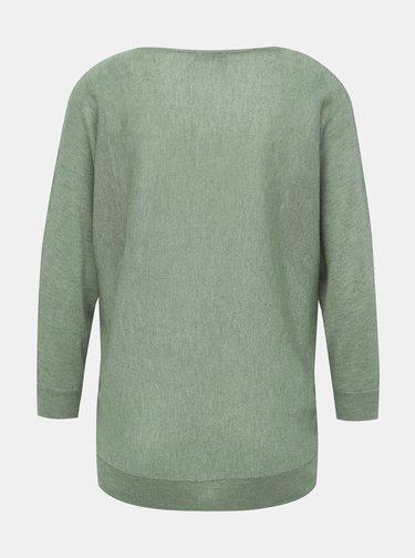 Zelený ľahký sveter s 3/4 rukávom M&Co