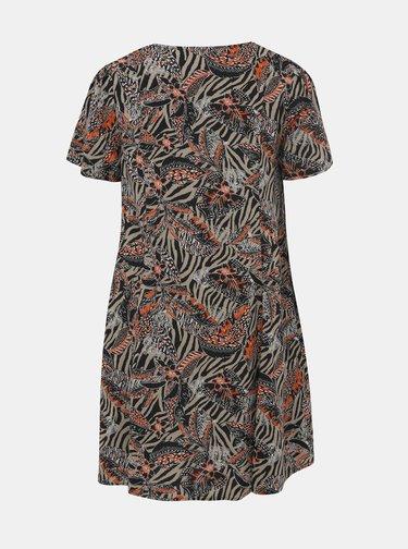 Čierno-šedé vzorované šaty M&Co Plus