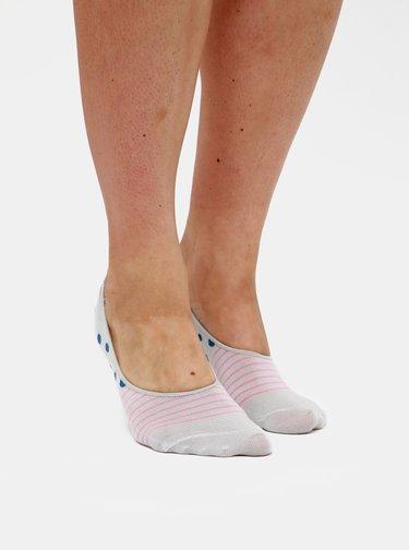 Sada troch párov dámskych nízkych ponožiek v šedej a čiernej farbe Meatfly