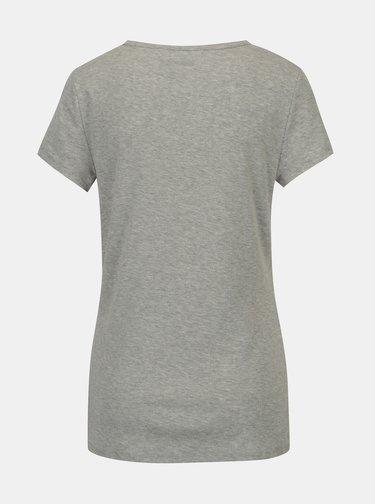 Šedé žíhané basic tričko s krátkým rukávem Dorothy Perkins