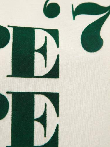 Krémové dámské tričko s potlačou Pepe Jeans Mia