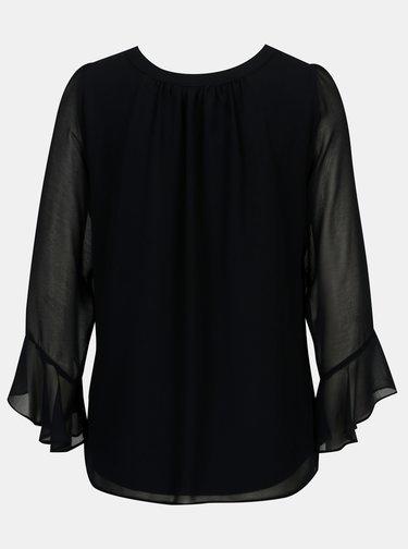 Bluza bleumarin cu maneci clopot Billie & Blossom