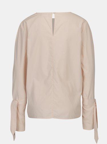 Bluza roz pal cu maneci clopot si funda VILA Jenner