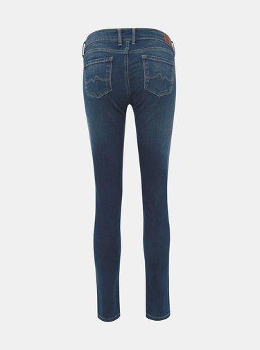 Jeansi pentru femei cu talie joasa bleumarin Pepe Jeans Soho