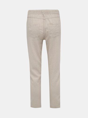 Béžové dámske ľanové nohavice M&Co Petite