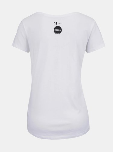 """Dobré"" biele dámske tričko Elpida"