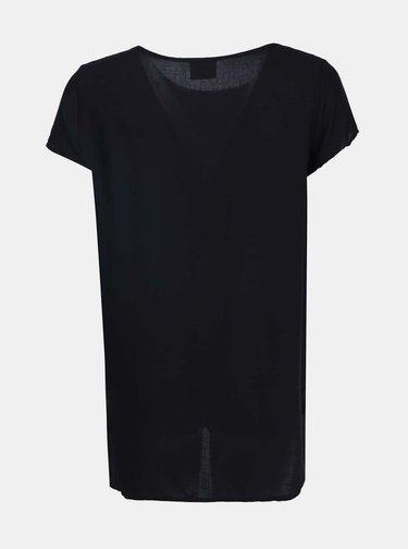 Čierne tričko s dlhšou zadnou časťou VERO MODA Boca