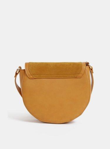 Hořčicová crossbody kabelka v semišové úpravě Haily´s Ciara