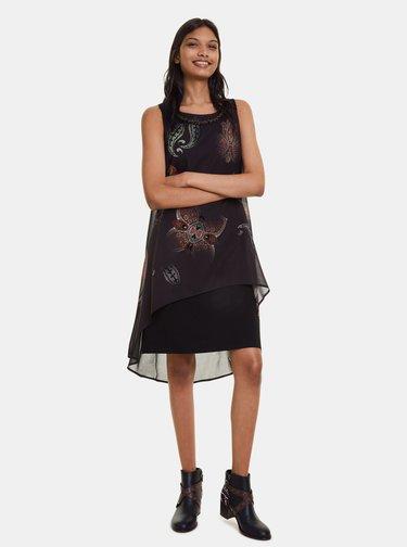 Černé vzorované šaty Desigual Montreal