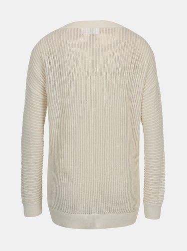 Krémový průsvitný svetr AWARE by VERO MODA Castiel