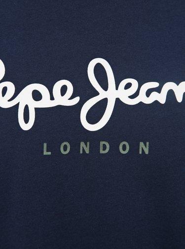 Tmavě modré pánské tričko s potiskem Pepe Jeans Eggo