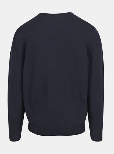 Tmavomodrý sveter s okrúhlym výstrihom Raging Bull
