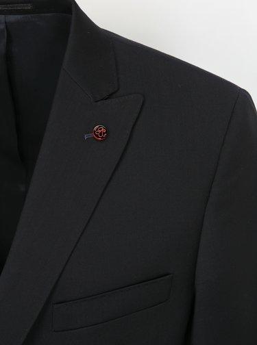 Modročerné oblekové vlněné sako Good Son