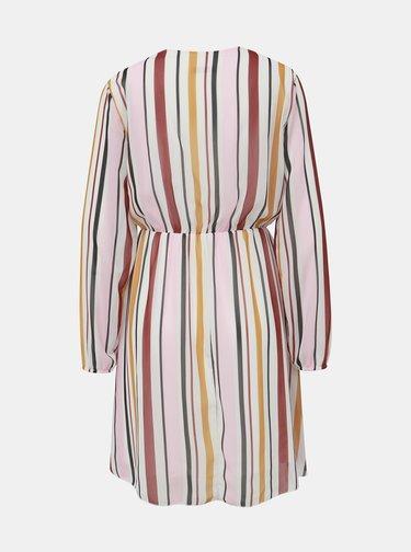 Bielo-ružové pruhované šaty Haily´s Lina