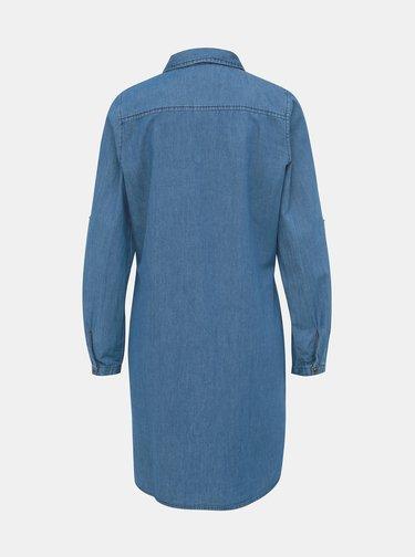 Modrá dámská dlouhá džínová košile Haily´s Paola
