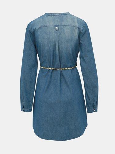 Modré rifľové košeľové šaty Haily´s Patty