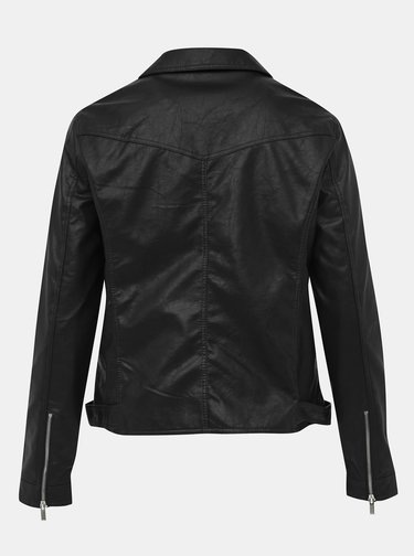 Čierna koženková bunda Dorothy Perkins Curve