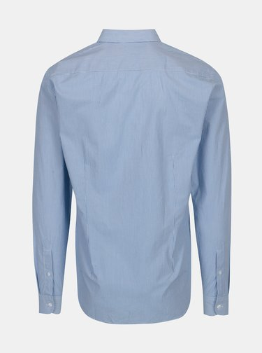 Camasa slim fit alb & bleu cu model - Casual Friday by Blend