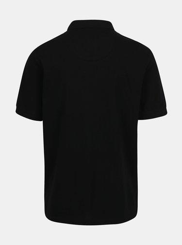 Čierna basic polokošeľa s výšivkou loga Raging Bull