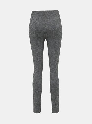 Šedé dámské kostkované kalhoty Haily´s Gloria