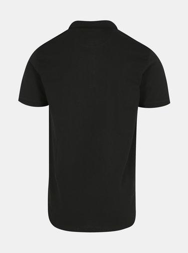 Černé pánské basic polo tričko Lindbergh